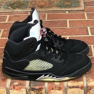 Air Jordan Retro 5 Black Metallic Size 13 (2016)